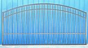 Custom Built Steel Iron Driveway Gate 12and039 Wd Inc Post Package Home Security