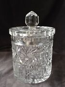 Crystal Covered Biscuit/cracker/cookie/candy Jar W/ Finial - Exquisite