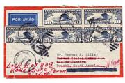 Scc10x5-sunbury Pa Mar/24/1937-air Mail-to Brazil-redirected-