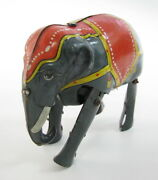 Rare Vintage Early Jumbo Elephant German Wind Up Tin Toy D.r.g.m. Germany See