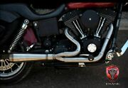 Trask Assault Stainless Steel 2 Into 1 Header Pipe Exhaust Harley Dyna 91-2005