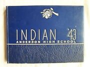 1943 Anderson High School Yearbook Anderson Indiana Indian
