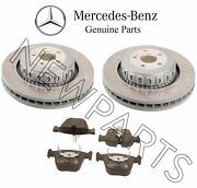 For Mercedes C216 R231 Set Of Rear Left And Right Brake Rotors And Pads Genuine