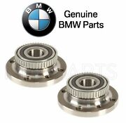 For Bmw E30 318i 325i Set Of Front Left And Right Wheel Hubs W/ Bearings Genuine