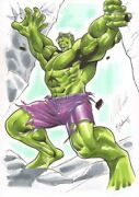 Hulk Color Commission - 2010 Signed Art By Nei Ruffino