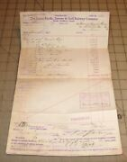 1894 Union Pacific, Denver And Gulf Railway Company Shipping Invoice Audit 339