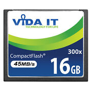 New 16gb Compact Flash Cf Memory Card Speed 300x 45mb/s Uhd For Digital Camera