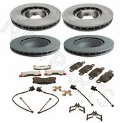 For Porsche Panamera Set Of Front And Rear Brake Rotors And Pads W/ Sensors Oem