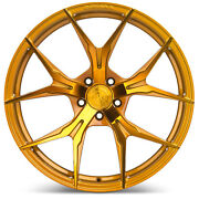20 Rohana Rfx5 Gloss Gold Concave Wheels For Ford