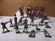 Crescent And Britains England Toy Vintage Metal British Soldiers And Misc Lot T