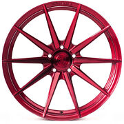 20 Rohana Rf1 Gloss Red Concave Wheels For Dodge