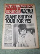 Sounds 5th August 1973 Pete Townsend + Poster Bowie Doors Rory Gallagher