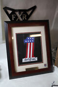 Evel Knievel Signed Autographed Harley 1 Patch Framed Motorcycle Fxr Eps21723