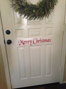 Merry Christmas Door Decal Vinyl Quote Words Wall Diy Holiday Free Shipping