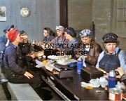 1943 Iowa Women Employed As Wipers In Roundhouse Lunch Railroad Train 8x10 Photo