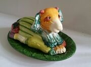 Vintage Made in Italy for Nieman Marcus Whimsical VEGETABLE LAMB  Butter Dish