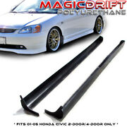 For 01 02 03 04 05 Honda Civic Coupes / Sedans Jdm Type-a Rs Style Side Skirts