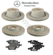 New For Mercedes W463 Vented And Slotted Genuine Front And Rear Rotors And Pads Kit