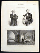 Bullion Vaults- The Bank Of England 1870 Victorian Engravings