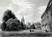 Front Of Corpus Christi College From Garden 1850s John Henry Le Keux Engraving