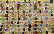 Costume Jewellery Mixed Lots 60pcs Colorful Imitation Zircon Lady's Rings Eh191