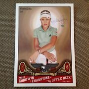2011 Ud Blow Up Card 21 X 15 Natalie Gulbis Auto Golf Goodwin Champions Uda Auth