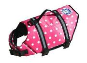 Paws Aboard Doggy Life Jacket Vest X Small 7-15lbs Dog K9 Pink Polka Dots Xs