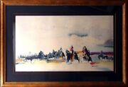 Earl Biss Bringing The Children Home From Star School Ii Custom Frame Signed