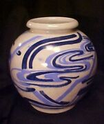 EXCEEDINGLY Rare French Art Deco Artist Signed Crackle Ware Vase VF France MUSTC