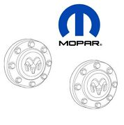 For Ram 3500 11-17 Pair Set Of 2 Front Wheel Center Caps Hubcap Cover 68081010aa
