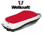 Wellcraft 210 Cl 20070315 Boat Cockpit Cover Sunbrella Logo Red Taylormade 2002