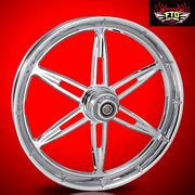 Harley Davidson 26 Inch Chrome 6ix Shooter Front Wheel By Ftd Customs