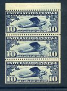 C10a Lindbergh Air Mail Mint Booklet Pane Of 3 Stamps Nh Stock C10-4