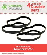 4 Replacements Kenmore / Powermate Canister Vacuumscb-3 Cb3 Belts Part 20-5218