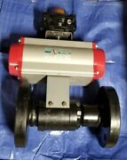 Evs 3 1500 Rf Fe Rp Severe Service Ball Valve W/ Sr Actuator And Limit Switch