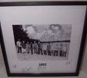 Lost Cast Signed Photo Season 3 Crew Gift Black And White 20x20 Framed Rare