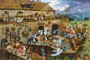 Michael Dudash Its A Zoo In There Canvas Giclee Art Print S/n