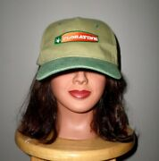 Floratine Turf Growing Logo Baseball Hat Rooted In Science Golf-course Grass Cap