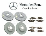 For Mercedes C207 E550 Front And Rear Disc Brake Pad Sets And Rotors Kit Genuine