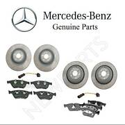 For Mercedes W164 Ml63 Amg Front And Rear Brake Disc And Pads W/ Sensor Kit Genuine
