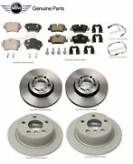 For Mini Cooper F56 Set Of 2 Front+2 Rear Rotors W/ Brake Pads And Sensors Genuine