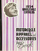 1954 Beck Motorcycle Apparel Accessories Catalog H-d ++ Vintage Parts Leathers +