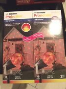 Gemmy Holiday Lights Star Spinner Led Light Show Projection Red/yellow 2 Pack
