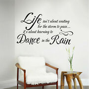 Life Isnand039t About Waiting Wall Decal Inspirational Saying Room Vinyl Mural Decor