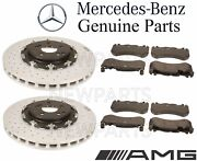 For Mercedes R190 Amg Gt Pair 2 Front Brake Pad Sets And Disc Rotors Kit Genuine