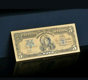 ☆amazing☆《1899 Silver Certificate》 Indian Chief 5 Rep.banknote Wzz