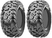 Pair 2 Cst Behemoth 25x8-12 Atv Tire Set 25x8x12 Cu07 25-8-12
