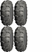 Four 4 Itp Mud Lite Xl Atv Tires Set 2 Front 27x10-12 And 2 Rear 27x12-12 Mudlite