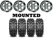 Kit 4 Interco Swamp Lite Tires 26x9-12/26x12-12 On Itp Ss212 Machined Wheels Fxt