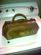 Rare Antique Doctors Bag Signed W.h.valentine Plymouth Vermont